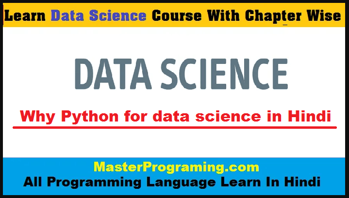 Why Python for data science