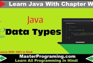 Java Data Types
