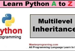 Python Multilevel Inheritance