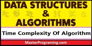 Time Complexity Of Algorithm in Hindi