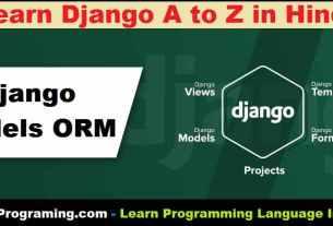 Django Models In Hindi