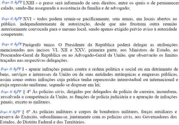 trecho da constituicao cobrado na disciplina de direito constitucional da prova de agente da policia federal de 2012