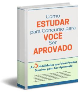 capa do ebook gratis como estudar para concurso para você ser aprovado