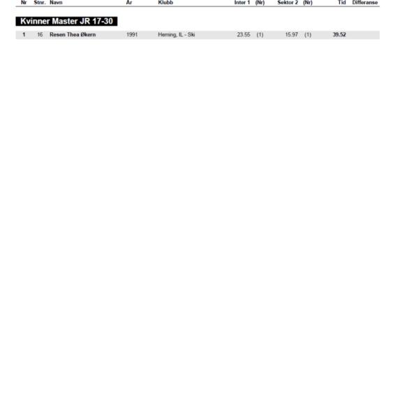 Alpinveteranene VM 2015 Slalåm kvinner omgangsanalyse 2. omgang side 2