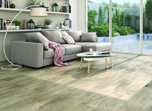 Parkay Porcelain HD SAIL TAUPE Collection Room Scene