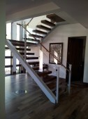 Custom Walnut Cantilever Stairway
