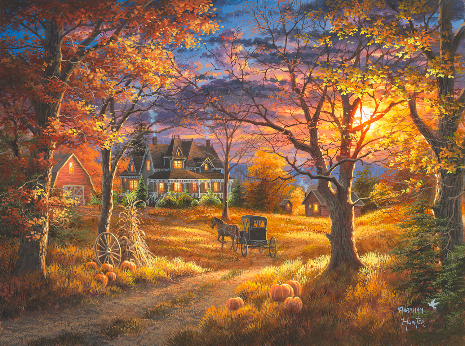 Fall Blessings Wallpaper Mark Keathley Amp Abraham Hunter Fine Art News