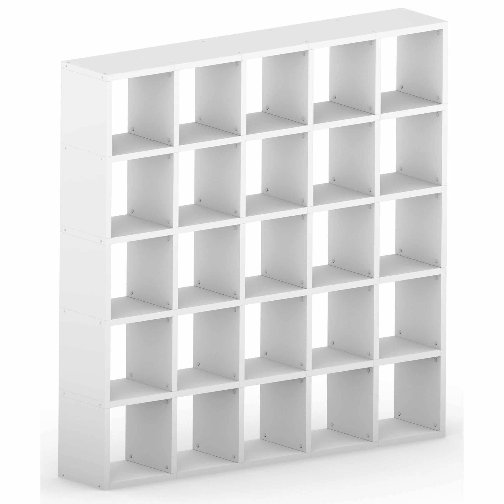 Modular 25 Cube White 1808l X 1828h X 328d Mastershelf