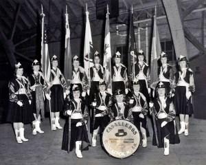 1958 Cambridge Caballeros Color Guard