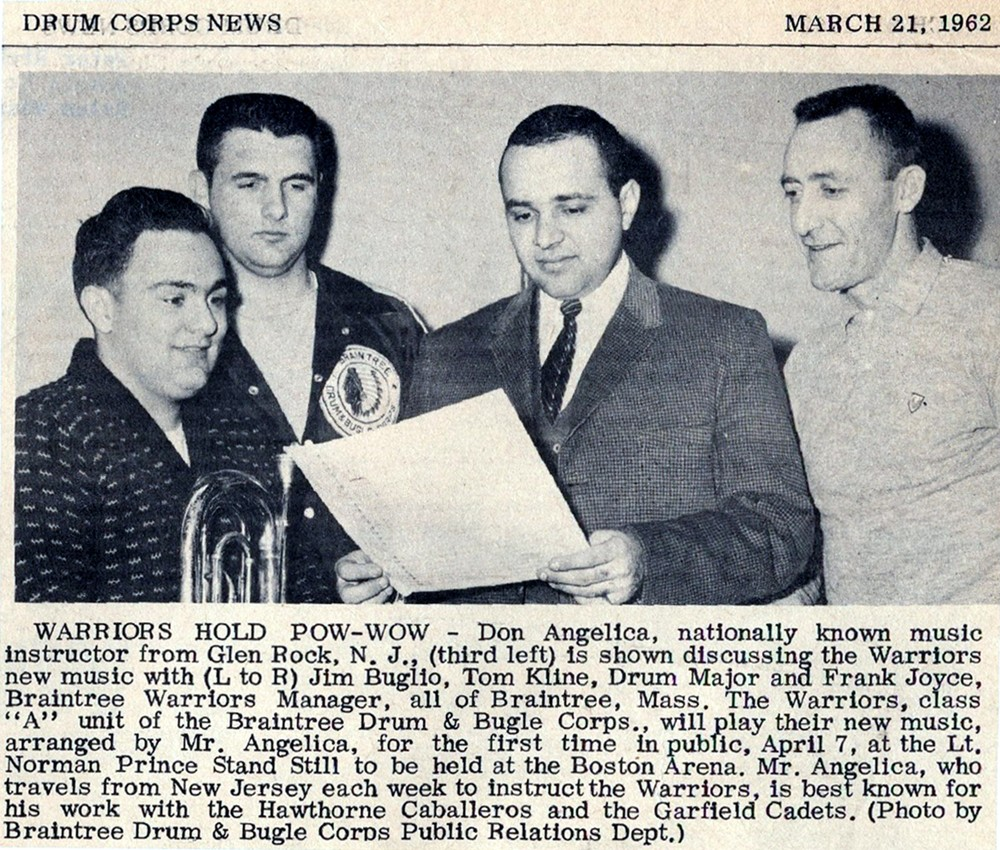 Don Angelica - Drum Corps News 1962