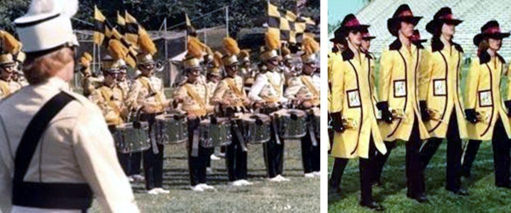 1975 and 1976 comparison of the Bridgemen uniforms