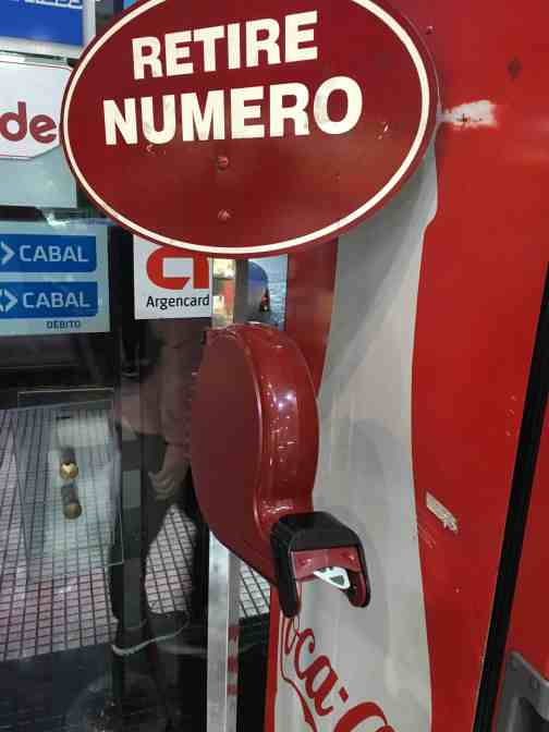 Ticket dispenser Argentina