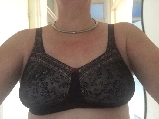 I am wearing my new black bra