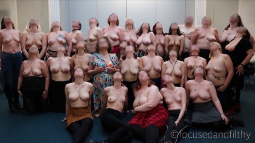 27 people come together to show their boobs in an inclusive body positive way.