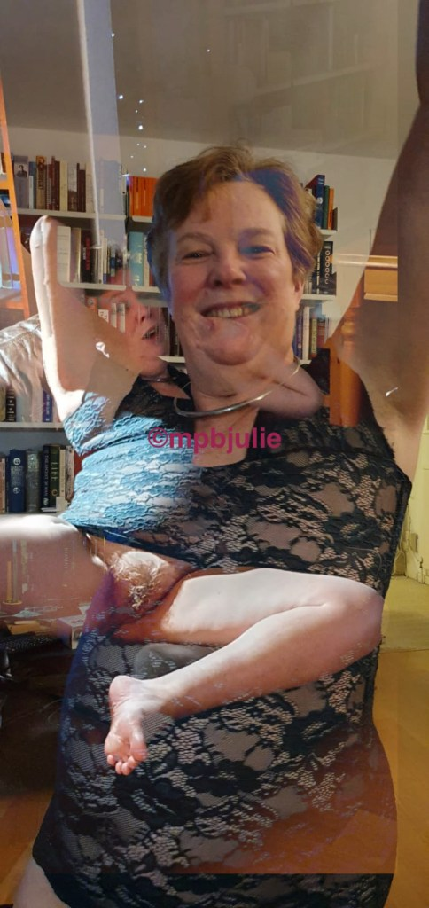 I am standing in a lace dress arms up. At the same time lying with dress pulled up and legs spread. It's surreal