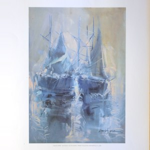 CANDELA PEREZ - BLUE SAILS (LITHOGRAPH)