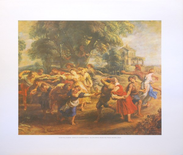 PETER PAUL RUBENS - DANCE OF COUNTRY PEOPLE (LITHOGRAPH)