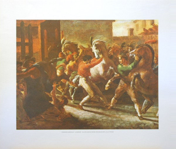 THEODORE GERICAULT - LE DEPART (LITHOGRAPH)