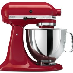 Kitchen Aid Mixer Accessories High Chair For Counter Kitchenaid Empire Red 5 Quart Artisan Series Stand