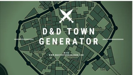 D&D Town Generator Master The Dungeon