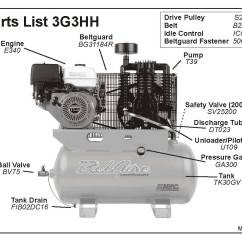 Air Compressor Unloader Valve Diagram 2002 Chevy Trailblazer Front Axle Belaire 3g3hh And 3g3hhl Parts