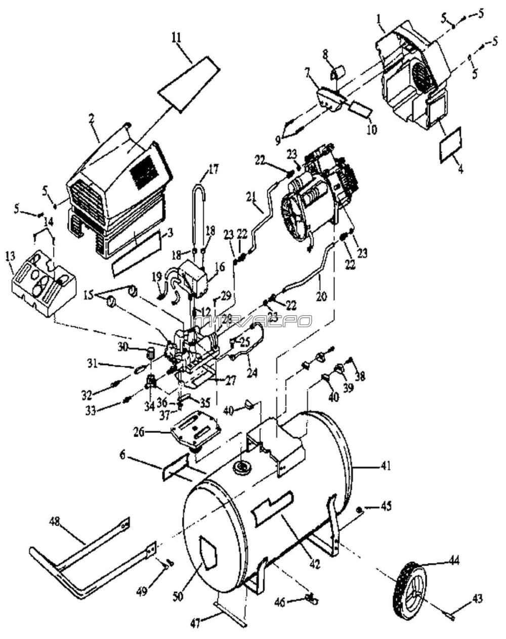 medium resolution of 919 152930 craftsman parts sears craftsman 919 152930 air compressor parts sears 1 hp air sears air compressor wiring diagram