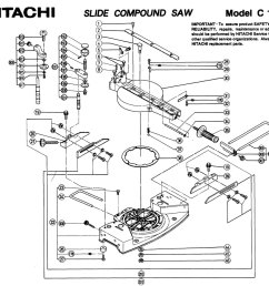 hitachi c10fs sliding compound miter saw diagram hitachi c10fs a group parts [ 1000 x 907 Pixel ]