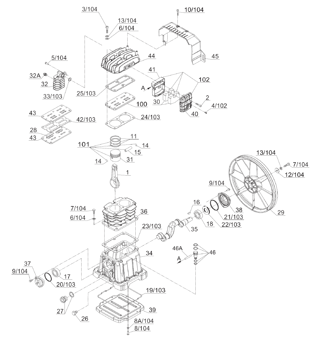 hight resolution of pump parts pump parts