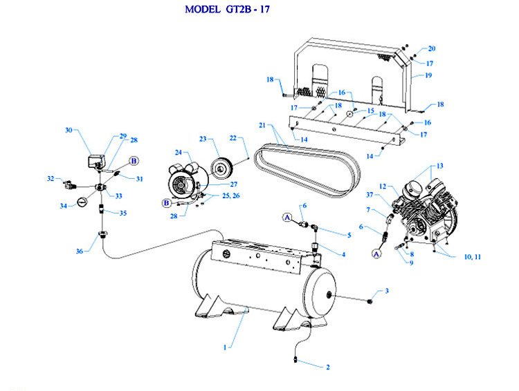 Jenny Air Compressor Parts