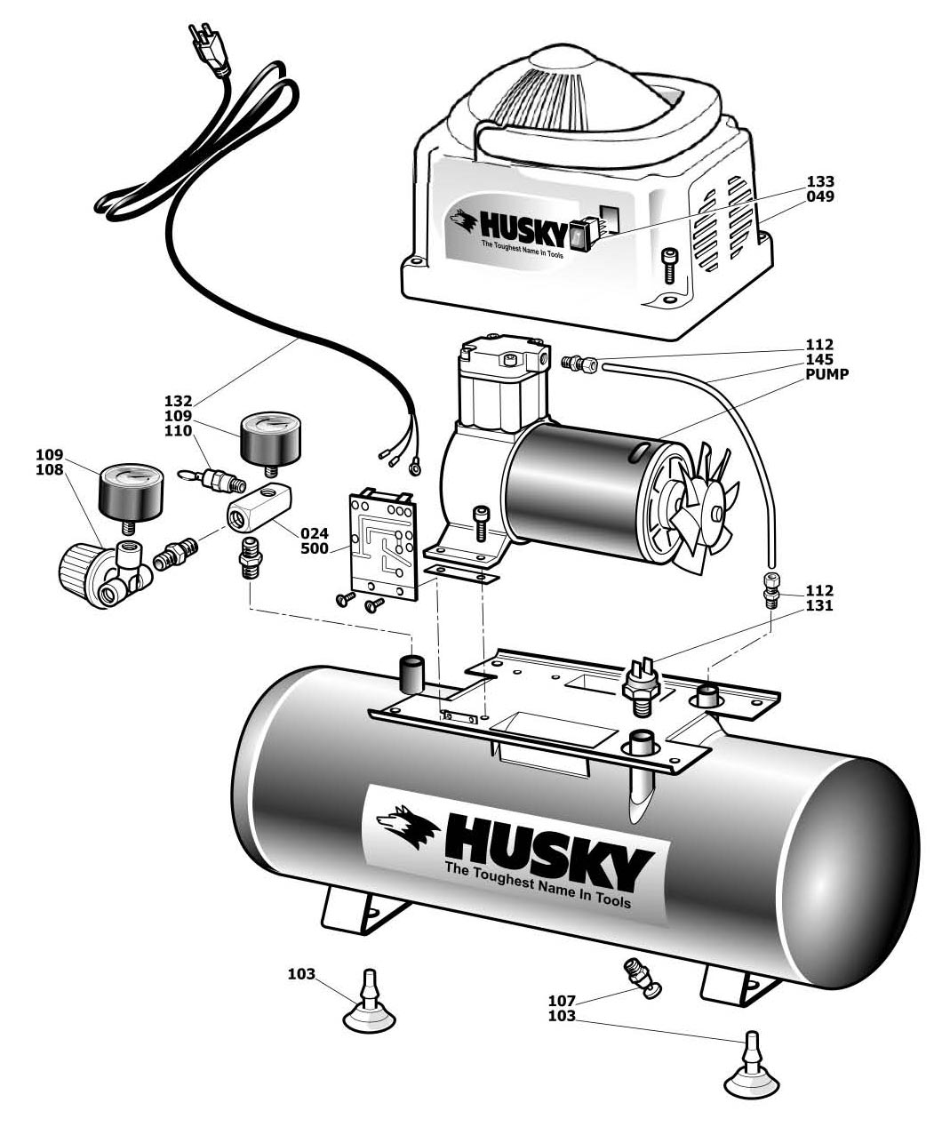 Husky 20 Gallon Air Compressor Parts