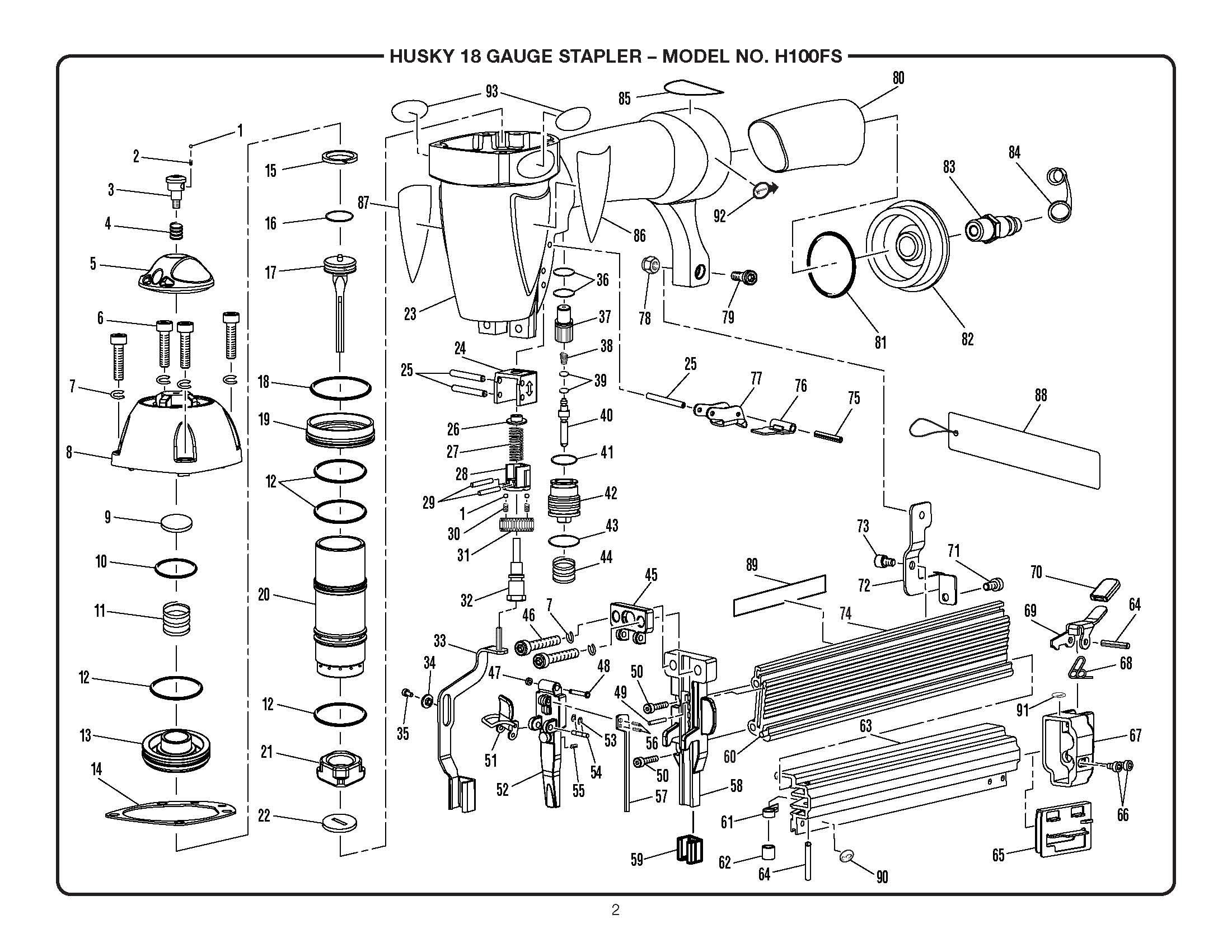 Staple Gun Parts Diagram Staple Gun Exploded View