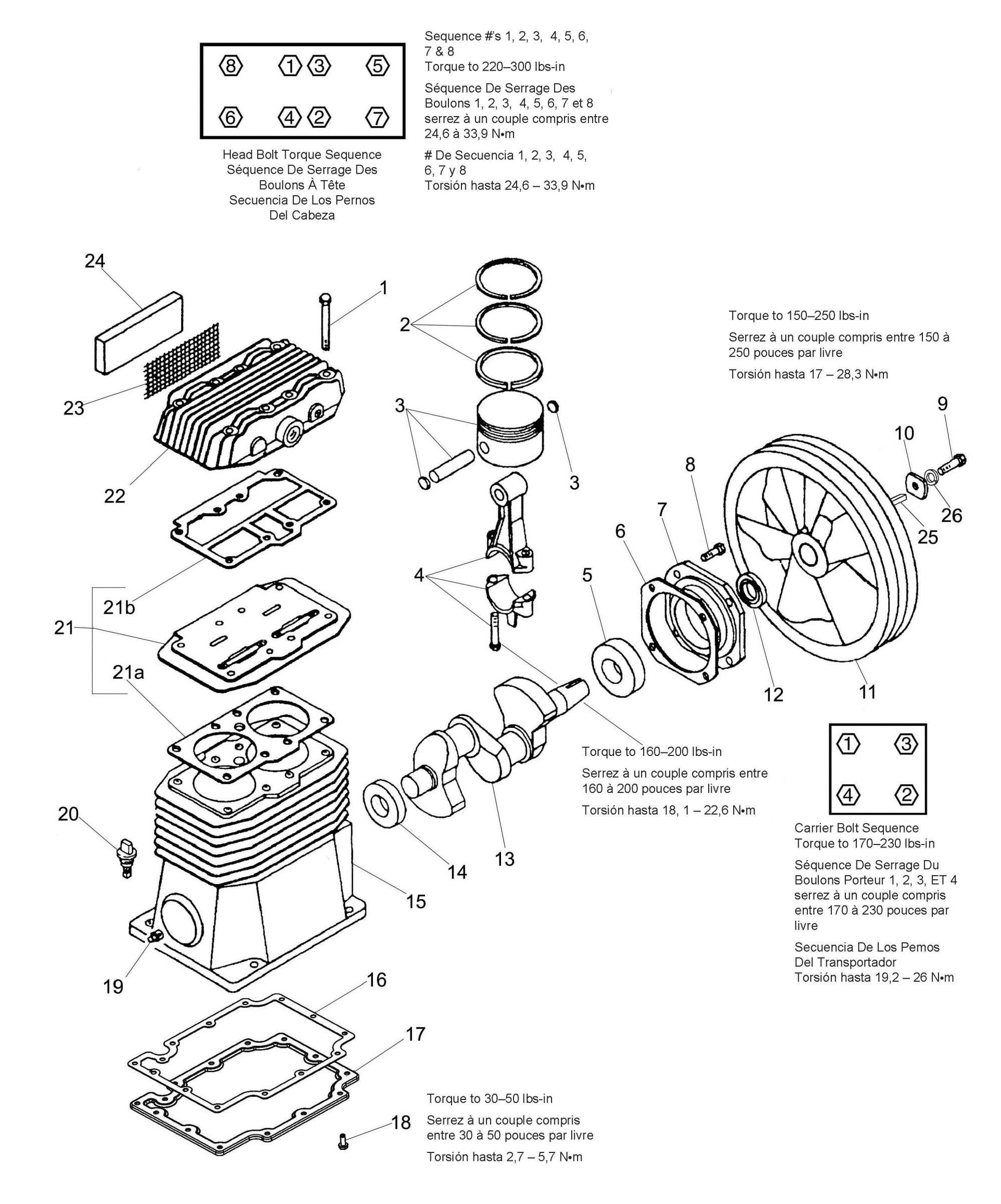 hight resolution of 040 0429 single stage oil bath electric air compressor pump repair parts