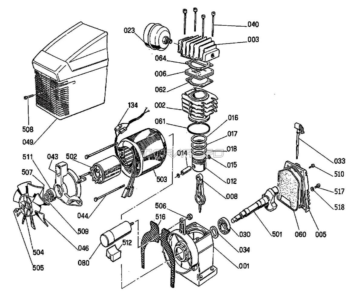 Hitachi Air Compressor Parts Diagram