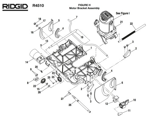 small resolution of ridgid r4510 h group parts