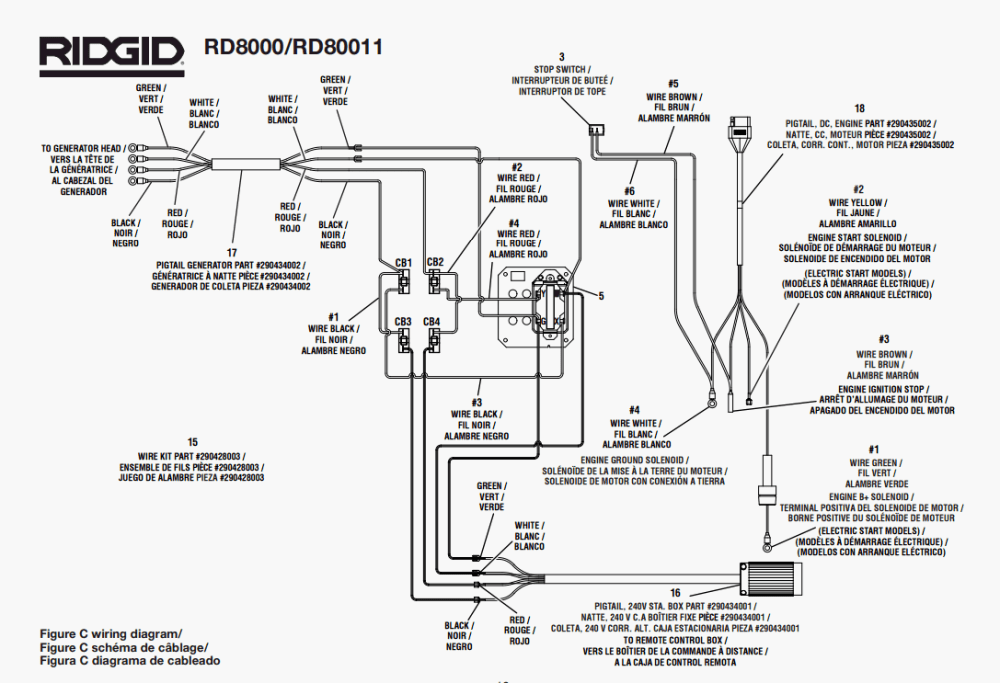 medium resolution of ridgid rd8000 rd80011 parts master tool repair rh mastertoolrepair com ridgid r4513 switch wiring diagram ridgid