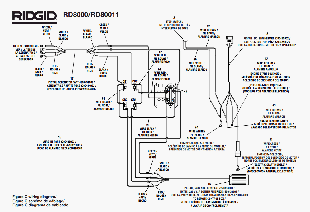 hight resolution of ridgid rd8000 rd80011 parts master tool repair rh mastertoolrepair com ridgid r4513 switch wiring diagram ridgid