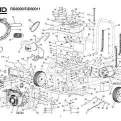 Ridgid Pressure Washer Parts Diagram 3 Way Toggle Switch Generator Rd8000 Rd80011