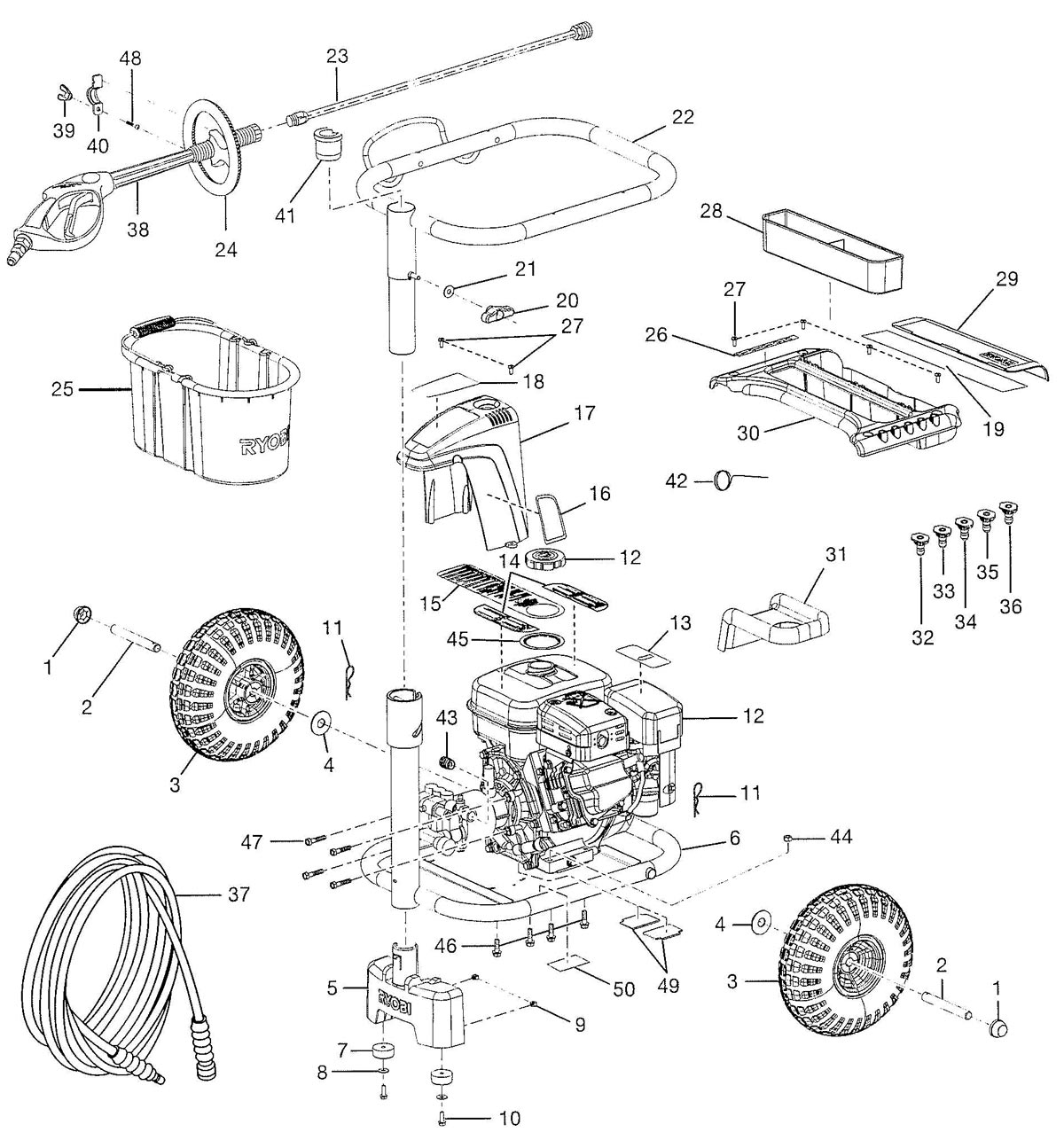 hight resolution of ry80030 ry80030a pressure washer parts schematic