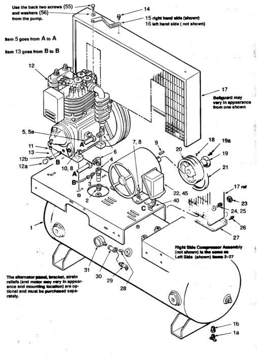 Coleman Powermate 2-C523E80H, 2-C523E120H Air Compressor Parts