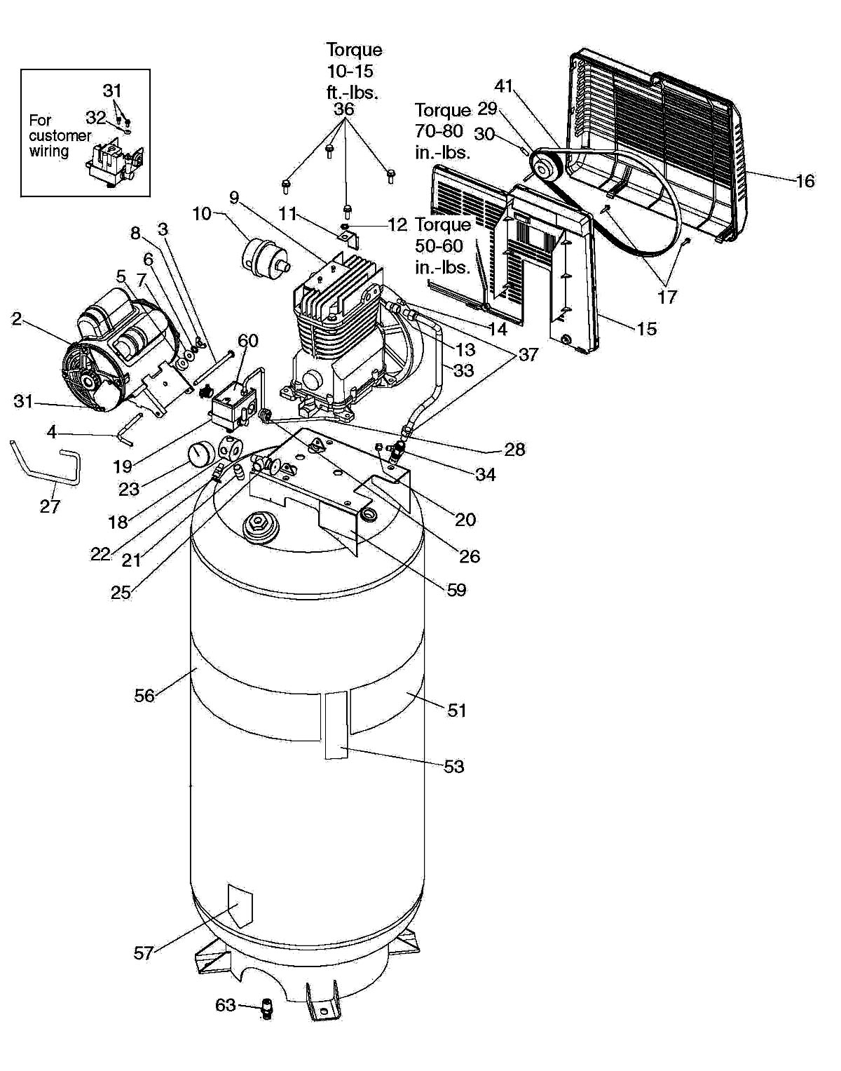 Wiring Diagram For Craftsman Air Compressor : 43 Wiring