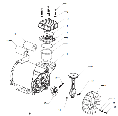 Wiring Diagram For Marathon Electric 1 2 Hp Motor Craftsman Air Compressor Motor Assembly 921 16914 Repair Parts