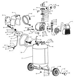 Sears Craftsman 921.166420 Air Compressor Parts