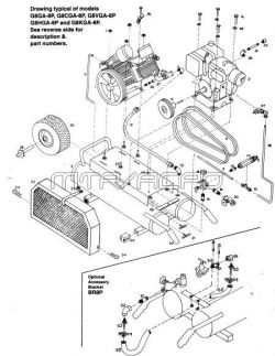 Emglo D8HGA-8P Air Compressor Parts