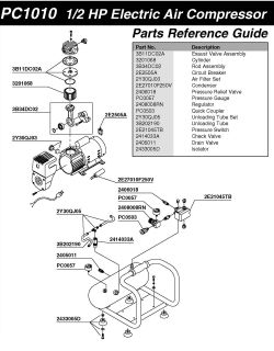 Senco PC1010 Air Compressor Parts