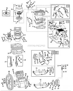 Speedaire 5Z405C Air Compressor Parts, Speedaire Parts