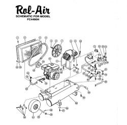 Rol-Air FC4490H Air Compressor Parts