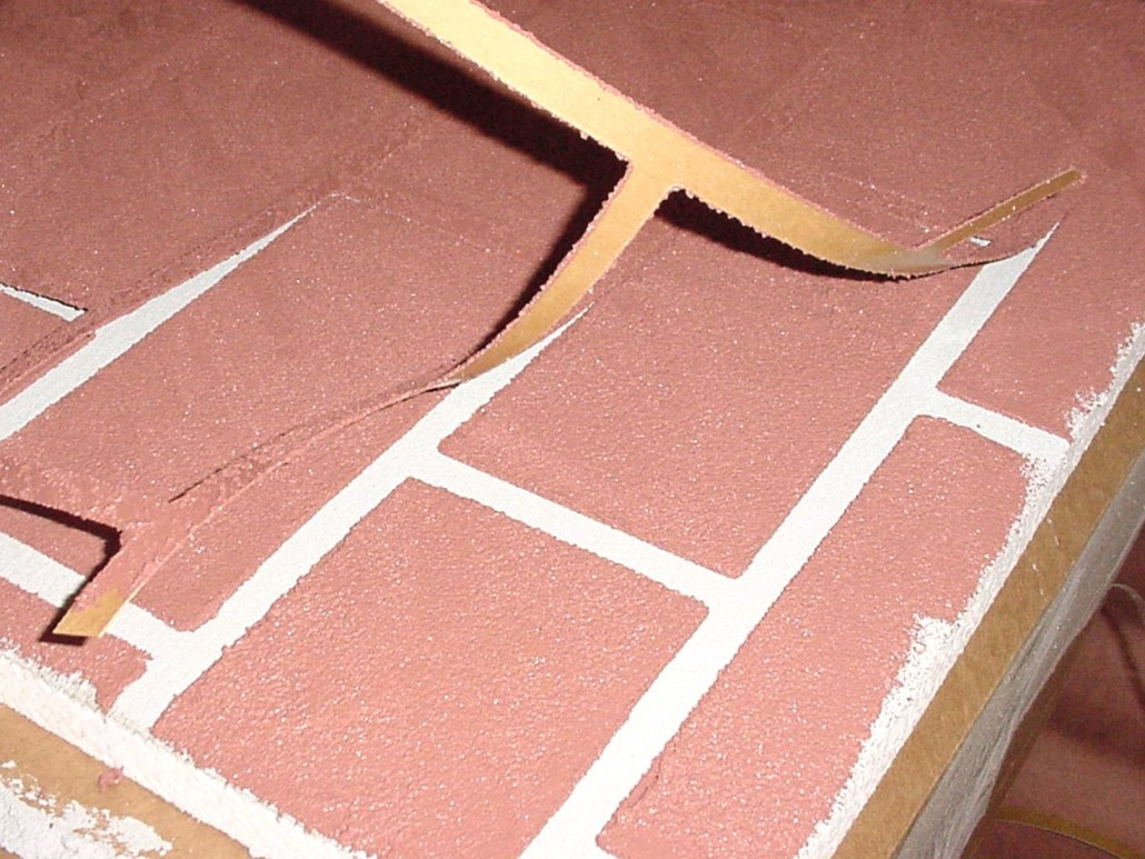 Brick Stencil Finishes Master Wall