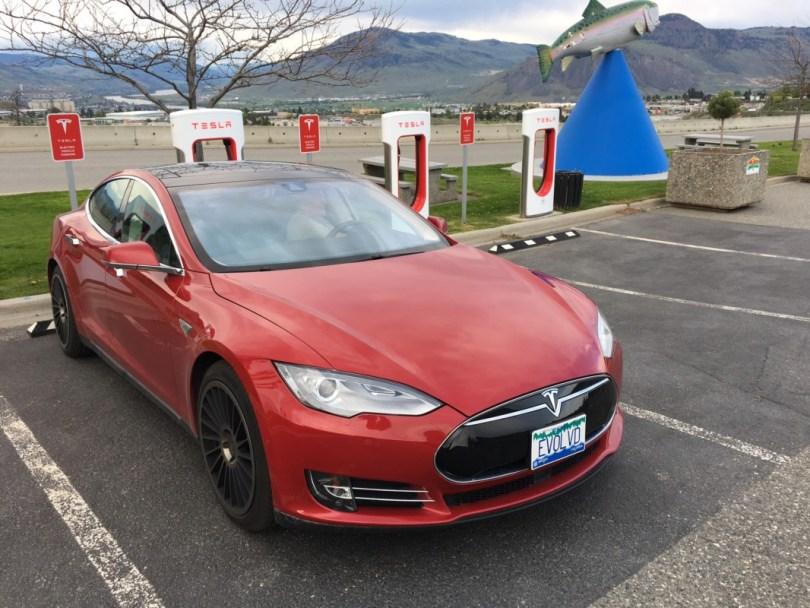 Tesla Kamloops SuperCharger,Tesla Model S