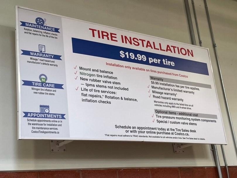 Costco Tire Centre Installation