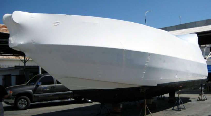 yacht wrapping, french riviera, antibes, cannes, shrink wrap, protection